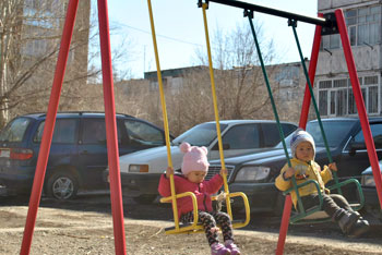Детская площадка Токмок ул.Шамшинская
