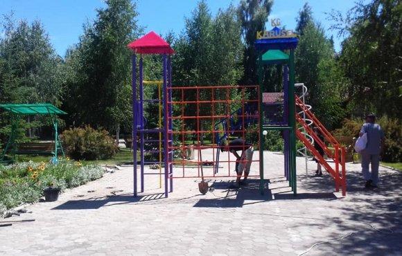 Детская игровая площадка в пансионате